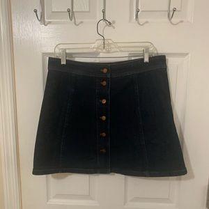 Madewell denim button up skirt